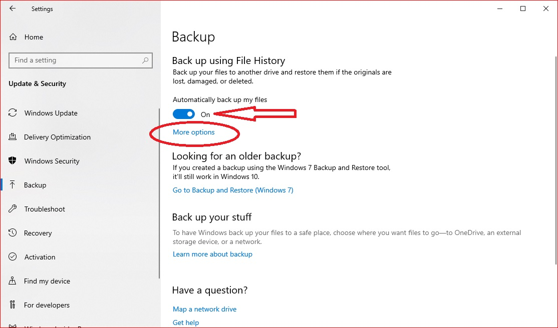 How to set up Automatic Backup in Windows 10